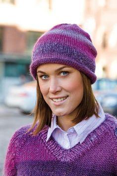 91566. MÖSSA MED RULLKANT Knitted Hats, Winter Hats, Beanie, Knitting, Fashion, Knitting Sweaters, Tejidos, Threading, Moda