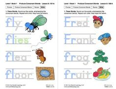 "Produce Consonant Blends ""Fl"" and ""Fr"": Lesson 9, Book 1 (Newitt Grade 1 Prereading Series)"