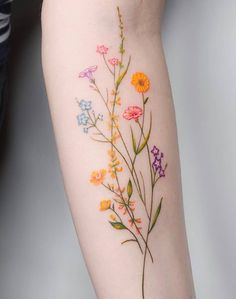 Over 80 stunning watercolor tattoo ideas for women tattoo & piercing . - Over 80 stunning watercolor tattoo ideas for women tattoo & piercing – flower tatt - Diy Tattoo, Tattoo You, Tattoo Quotes, Tattoo Fonts, Custom Tattoo, Tattoo Ribs, Calf Tattoo, Nature Tattoos, Body Art Tattoos