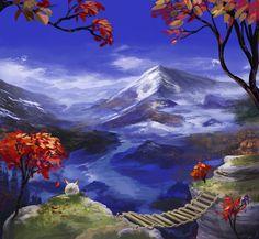 Mountains 're Nice by FirebornForm.deviantart.com - When Chrono Trigger and Bob Ross collide.