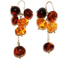 Genuine Baltic Amber Dangle Set of Earrings Sterling Silver Details... (1.770 RUB) ❤ liked on Polyvore featuring jewelry, earrings, sterling silver jewelry, amber jewelry, amber earrings, sterling silver earrings and sterling silver dangle earrings