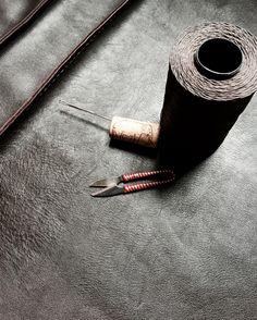 work in progress...handmade leather bag /justyna woloszyn