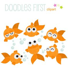 This clip art set includes the following elements.  6 x Goldfish 4 x Bubbles  Each clipart illustration is included separately as a high resolution PNG file with a transparent background and also as a JPG with a white background  Each object is provided at a sizes of 5.5 Inches on its longest side. The PNG makes it versatile to scale for any project.  No watermarks will appear on purchased items.  The purchased clip art that will be provided is much higher quality that what you see in…