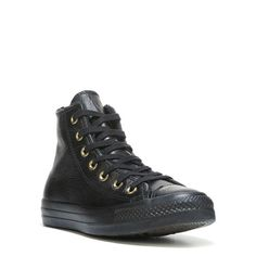 Converse Women's Chuck Taylor All Star Leather Fur High Top Sneakers (Black Leather) - 10.0 M