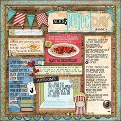 My Perfect Day -Layout by Lorilei Murphy