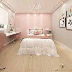 Bedroom Design Ideas – Create Your Own Private Sanctuary Apartment Wallpaper, Dream Bedroom, Bedroom Design, Home Decor, Small Bedroom, Interior Design, Girl Bedroom Decor, Trendy Bedroom, Dream Rooms