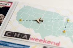 project life card - plane route - DSC_7238.jpg by scrappyJedi, via Flickr