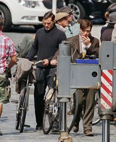 Jamie Dornan and Cillian Murphy who are playing Czech war heroes Jan Kubis and Josef Gabcik were spotted in Prague on the set of the movie Anthropoid. http://everythingjamiedornan.com/gallery/thumbnails.php?album=67  https://www.facebook.com/everythingjamiedornan/?ref=aymt_homepage_panel