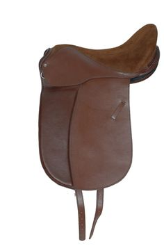 """NEW"" Leather Dressage Treeless Saddle Black OR BROWN SZ 17 Horse Wear Saddles #HH"