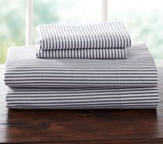 Jackson Stripe Sheeting #pbkids $69 for twin sheet set: fitted, full, 1 case