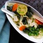 Vegetable Pho Broth:  This has comfort food satisfaction without having comfort food high calories. There is no wrong way to make this soup. Add all your favorite ingredients and make it your own.