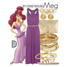 Meg by leslieakay on Polyvore featuring WearAll, Dune, ABS by Allen Schwartz, Versace, Gorjana, Rosantica, Jo No Fui, disney and disneybound