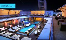 Norwegian Cruise Line Breakaway Courtyard at night !!!  I LOVE to cruise like a Norwegian !!!