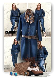 """""""Your Denimstyle with Zaful Fashion"""" by christiana40 ❤ liked on Polyvore featuring T-shirt & Jeans, Nordstrom, women's clothing, women's fashion, women, female, woman, misses and juniors"""