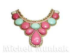 Maxi Colar Candy Color (Mint e rosa)  http://www.michellimunhak.com.br