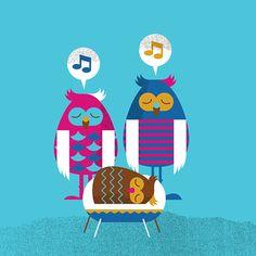Owl Family on Behance