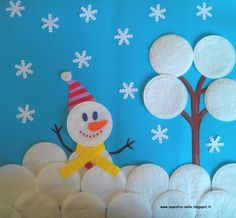 Winter Crafts For Kids Kids Crafts, Winter Crafts For Kids, Projects For Kids, Art For Kids, Diy And Crafts, Arts And Crafts, Paper Crafts, Diy Paper, Winter Christmas