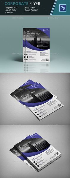 Corporate Flyer Template PSD #design Download: http://graphicriver.net/item/corporate-flyer/14414016?ref=ksioks