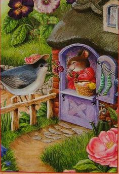 By Susan Wheeler Susan Wheeler, Beatrix Potter, Graffiti Kunst, Bunny Art, Woodland Creatures, Whimsical Art, Cute Illustration, Cute Art, Vintage Art