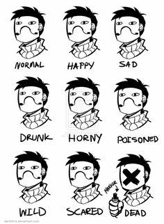 The many expressions of Zacharie.