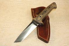 Gordon Romeis Black Micarta Custom Hand Made Tanto Point Fixed Blade Knife | eBay