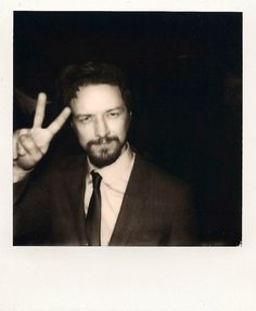 James McAvoy, taken with our 'Impossible Project' Polaroid camera