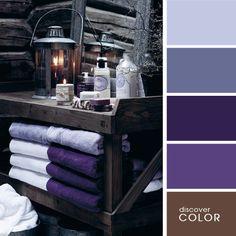 Ванная в фиолетовых тонах   DiscoverColor.ru