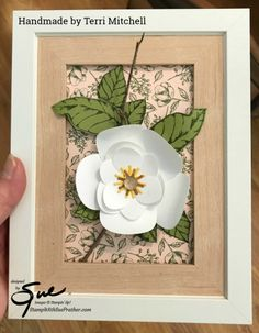 Stampin' Up! Magnolia Lane Suite Sneak Peek with the Inky Fingers Krew Magnolia Book, Magnolia Home Decor, Magnolia Stamps, Magnolia Flower, Magnolia Homes, 3d Paper Flowers, Poppy Cards, Get Well Cards, Card Making Inspiration