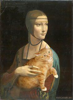 Fat Cat Art   Retrato de Cecilia Gallerani – Leonardo da Vinci
