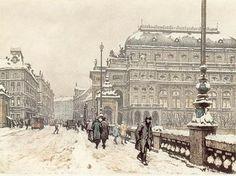 T.F.Simon (Czech) 'National Theatre in Winter', 1923