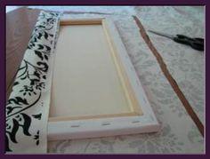 DIY Wall Art. Fabric on Canvas or Corkboard.! geez