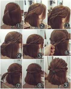 45 beautiful hairstyles for medium length hair in 2019 00049 ~ Litledress Scarf Hairstyles, Pretty Hairstyles, Braided Hairstyles, Easy Casual Hairstyles, Medium Hair Styles, Curly Hair Styles, Hair Arrange, Cool Braids, Hair Dos