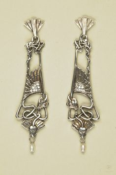 Antique Mucha earrings...so beautiful!