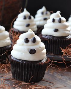 Lots of icing means lots of yummy goodness on these ghostly cupcakes.
