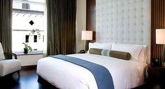 Palomar San Diego, a Kimpton Hotel in San Diego, CA. Luxury Frette linens in the Deluxe Guestroom.