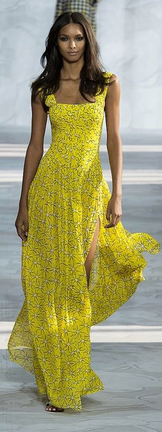 Not-So-Mellow Yellow gown from DVF Spring '15