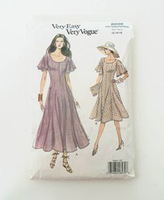 Excited to share the latest addition to my #etsy shop: VOGUE Very Easy Very Vogue Sewing Pattern 8707 / vintage Sewing Pattern / Dress Sewing Pattern / 90s dress / VOGUE  8707  / retro / 80s