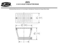 Zurn x Rectangular Gutter Drain – MasterBuilder Mercantile Inc. Floor Drains