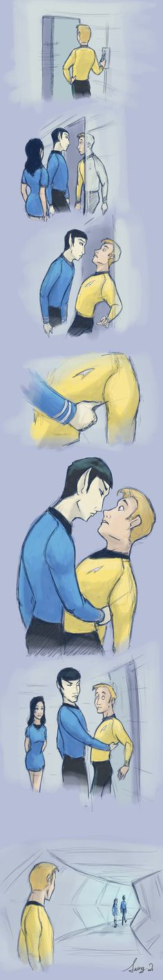 Kirk and Spock,that's amusing!
