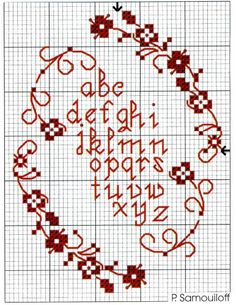 Blinnies Creations -  nice red cross stitch work