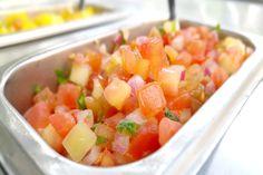of vine ripened heirloom tomatoes for our signature pico de gallo ...