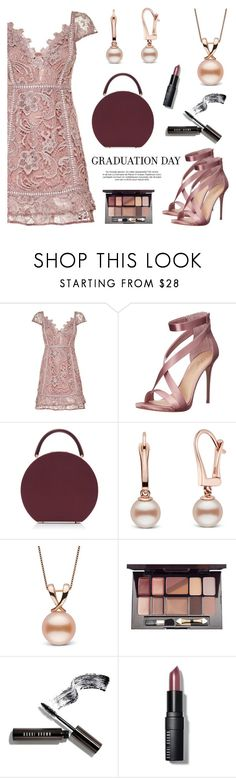 """""""Graduation Day Style!"""" by pearlparadise ❤ liked on Polyvore featuring Vince Camuto, BUwood, Iman, Bobbi Brown Cosmetics, Graduation, contestentry, pearljewelry and pearlparadise"""
