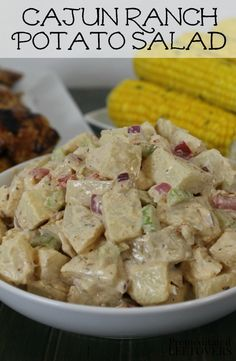 This Cajun Ranch Potato Salad Recipe is a delicious twist on traditional potato salad recipes! It uses ranch dressing which is a healthy, lower calorie substitute for mayo. Plus find Easy BBQ Ideas for creating a delicious barbeque dinner. And tips simplifying your meal while hosting the perfect summer barbecue this year. AD