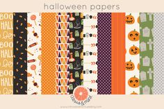 halloween digital paper pack by Citrus and Mint on Creative Market #halloween #halloweenparty #halloweencostume #scrapbooking #digitalscrapbooking #invitations