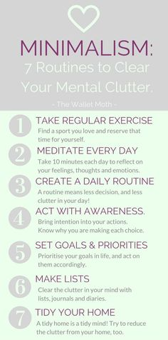Minimalism can work for just about anyone in any situation. Use these 4 minimalist techniques, routines, or habits to clear away your mental clutter. You can call it a massive brain dump for your mental health.