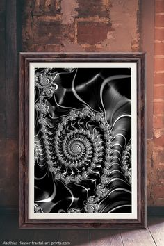 Fractal spiral Steampunk style, cool black and white art. Check out this artwork and more than 400 fascinating Fractals here: http://matthias-hauser.pixels.com/collections/fascinating+fractals Matthias Hauser fractal-art-prints.com