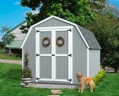 Value Gambrel Wood Storage Shed Kit (with 4' Sidewalls) #StorageShedsOutlet