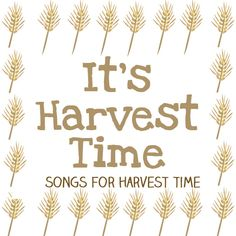 harvest songs for preschool and kindergarten