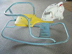 vintage 1950s childs rocking chair horse Mario Toy British Made
