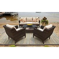 $1299 one color Elijah 4-Piece Deep Seating with Premium Sunbrella Fabric - Sam's Club